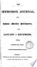 The Orthodox journal and Catholic monthly intelligencer [ed